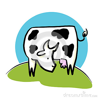 Farm Cow Illustration