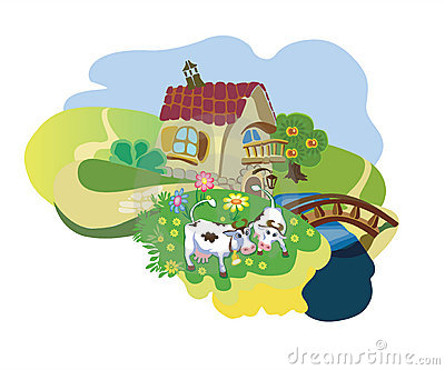 Farm with cows