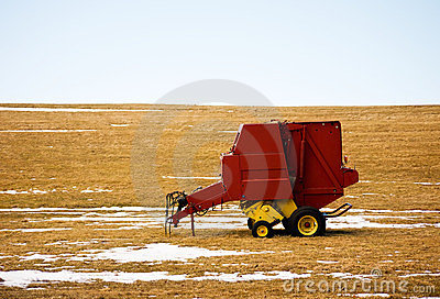 Farm Equipment Winter Landscape