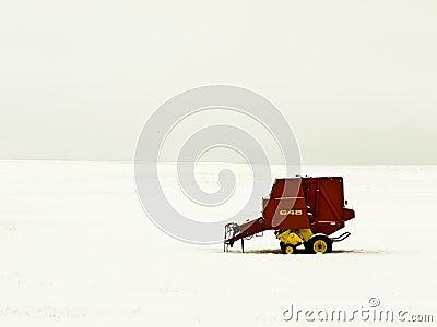 Farm Equipment Winter Landscape
