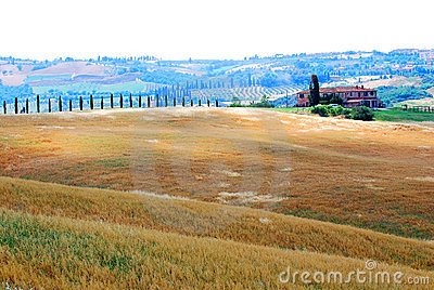 Farm and farmland in Tuscany