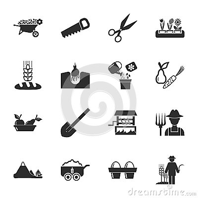 Free Farm, Gardening 16 Icons Universal Set For Web And Mobile Stock Image - 63744281