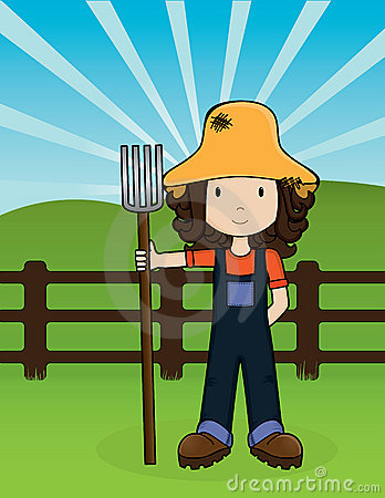 Free Farm Girl -Vector Stock Photos - 5978853