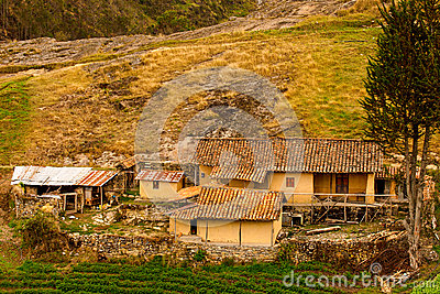 Farm on a Hill at Ingapirca, Ecuador