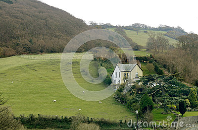 Farm on the Hillside - Wales Landscape, UK, Europe