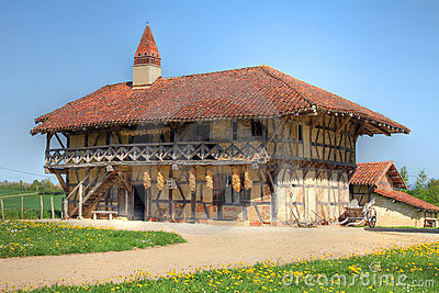 farm house near bourg en bresse royalty free stock photography cartoondealer 19134221