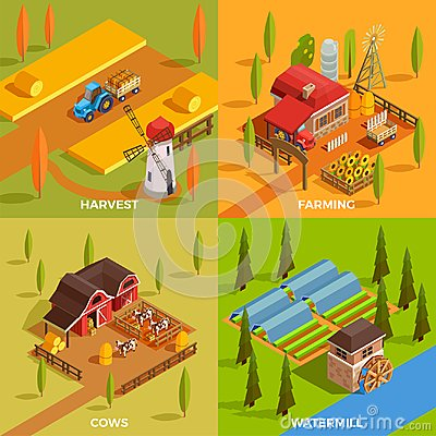 Free Farm Isometric 2x2 Concept Royalty Free Stock Images - 100098989
