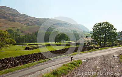 A farm  in the  Lake District National Park.