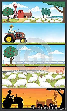 Free Farm Landscapes Stock Images - 13894724