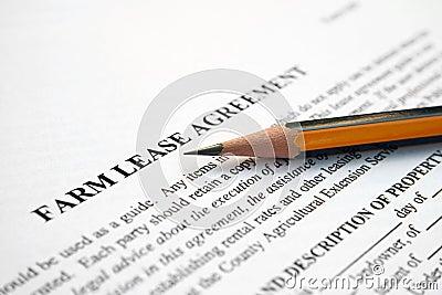 Farm lease agreement