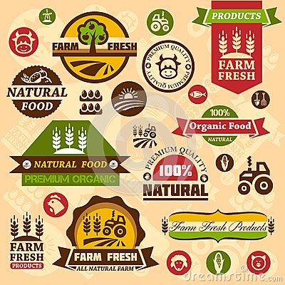 Free Farm Logo Labels And Designs Stock Photo - 33154840