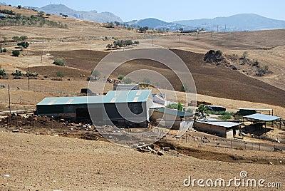 Farm near Almogia, Andalusia, Spain.