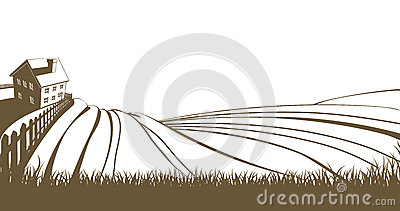 Farm And Rolling Hills Stock Image - Image: 32966701