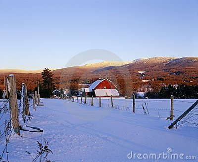 Farm Scene In Winter