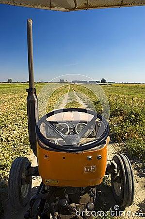 Farm tractor driver side