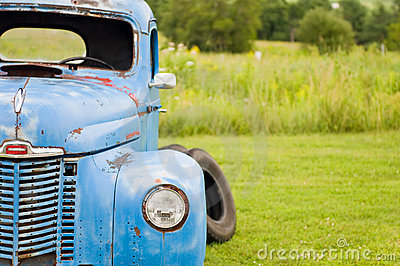 Farm truck abandoned