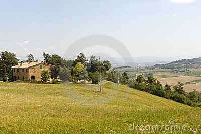 Farm In Val D'Orcia Royalty Free Stock Photography - Image: 23920037
