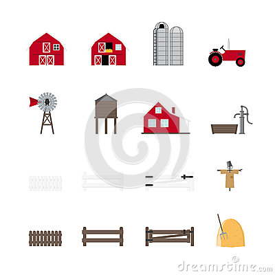 Farm Vector Icon Collection