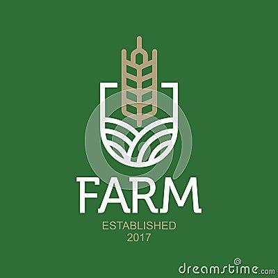 Farm vector logo. Agro abstract emblem Vector Illustration