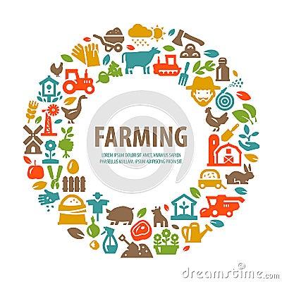 Free Farm Vector Logo Design Template. Farming, Harvest Stock Photography - 62408802