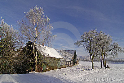 Farm in winter, Germany