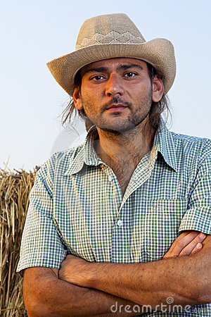 Farmer with Arms Folded