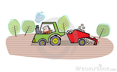 Farmer cartoon illustration