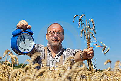 Farmer with Clock 11:55