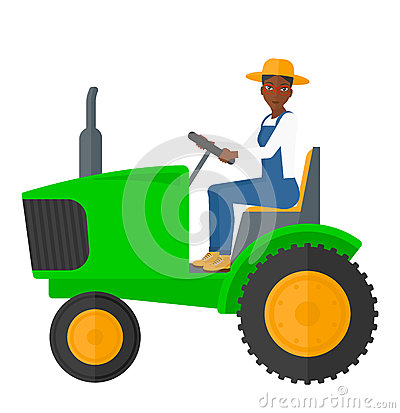 Free Farmer Driving Tractor Royalty Free Stock Photos - 65212878