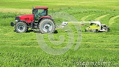 Farmer Farming Tractor Hay