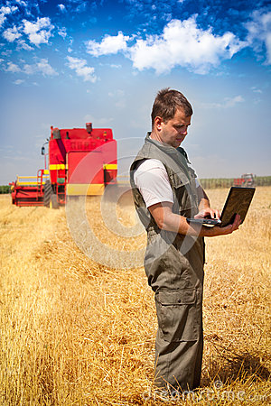 Farmer in a field