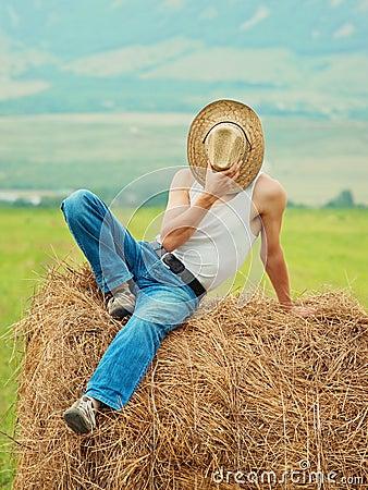 Farmer fooling around