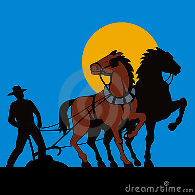 Farmer and his horses