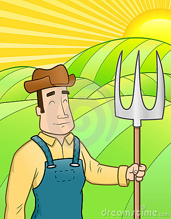 Free Farmer In The Field Royalty Free Stock Photography - 14017027