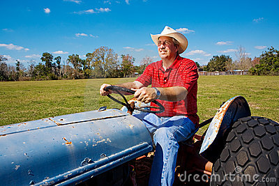 Farmer Mows the Field