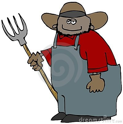Farmer With A Pitchfork