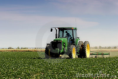 Farmer plowing the field Editorial Photography