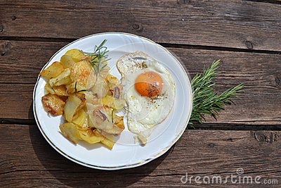Fried Eggs With Rosemary Potatoes Recipes — Dishmaps