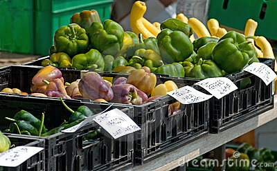 Farmer s market peppers