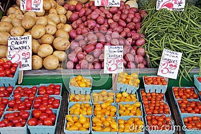 Farmer s market produce