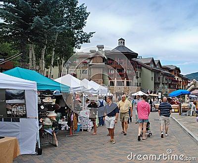 Farmer s market in Vail, Colorado Editorial Image