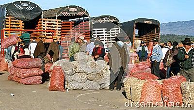 Farmer´s market, Villa de Leyva, Colombia Editorial Image