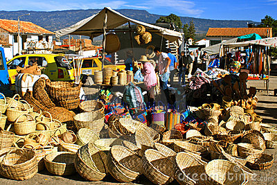 Farmer´s market, Villa de Leyva, Colombia Editorial Stock Photo
