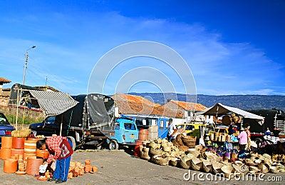 Farmer´s market, Villa de Leyva, Colombia Editorial Stock Image
