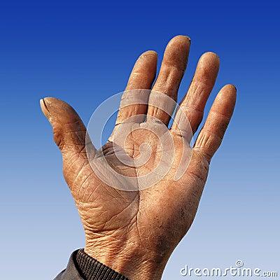 Farmer s rough hand