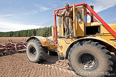 Farmer with truck