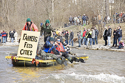 Farmers Feed Cities Raft- Port Hope, March 31/2012 Editorial Stock Image