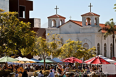 Farmers Market, Little Italy, San Diego Editorial Stock Image
