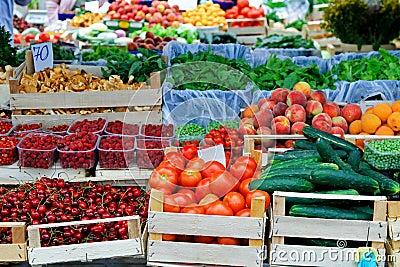 Farmers market place