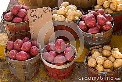 Farmers  Market Potato Display